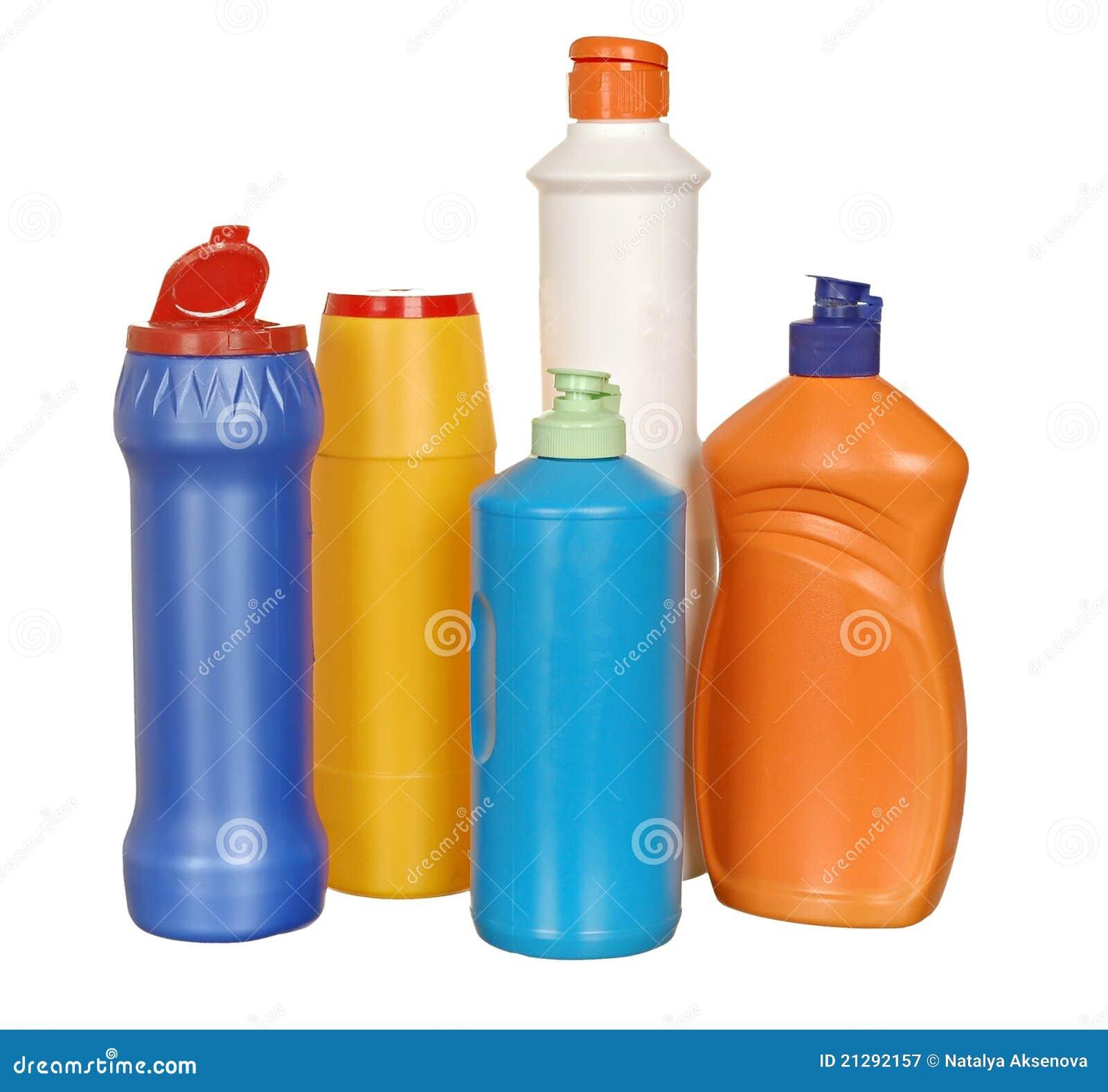 Bottiglie Di Plastica Colorate Fotografia Stock Libera da Diritti - Immagine: 21292157