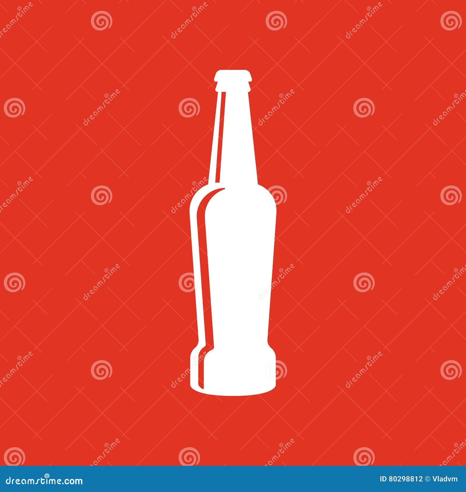 Bottle of beer icon. Beer and pub, bar symbol. UI. Web. Logo. Sign. Flat design. App.Stock
