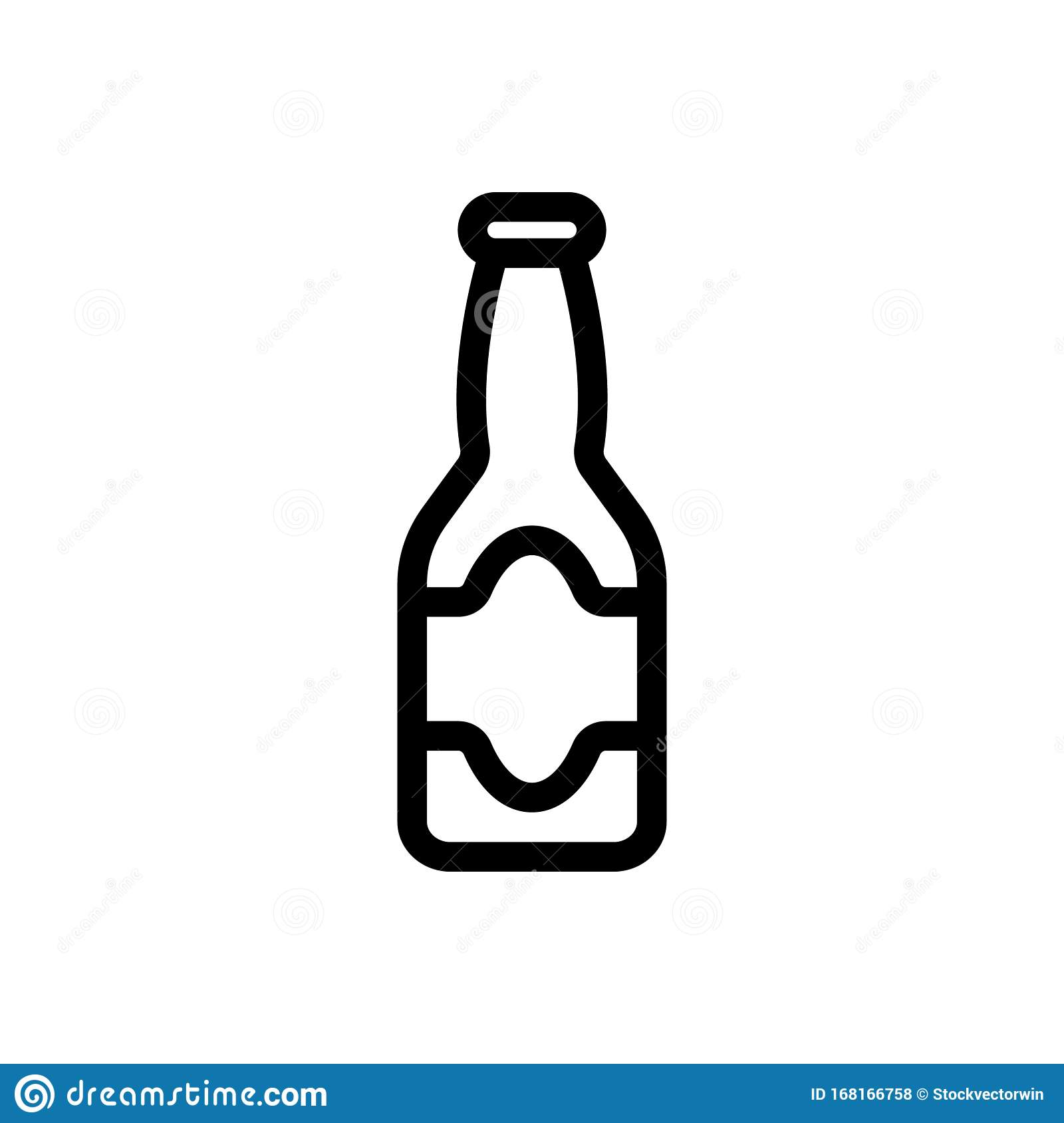A Bottle Of Beer Icon Vector Isolated Contour Symbol Illustration Stock Vector Illustration Of Items Concept 168166758 With these beer icon resources, you can use for web design, powerpoint presentations, classrooms, and other graphic. dreamstime com