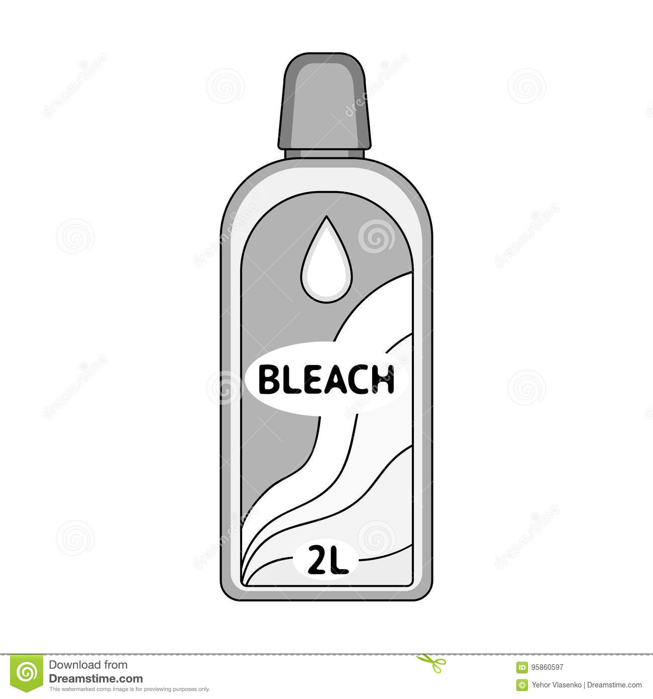 Bottle of bleach dry cleaning single icon in outline style vector dry cleaning single icon in outline style vector symbol stock illustration web buycottarizona Choice Image