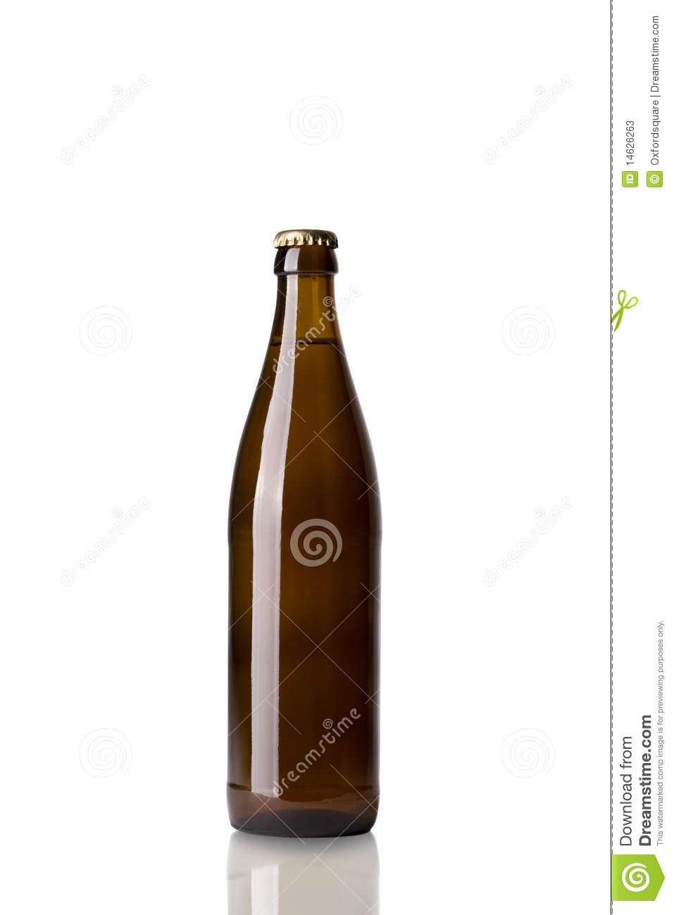 Bottle of brown beer stock photos image 14626263