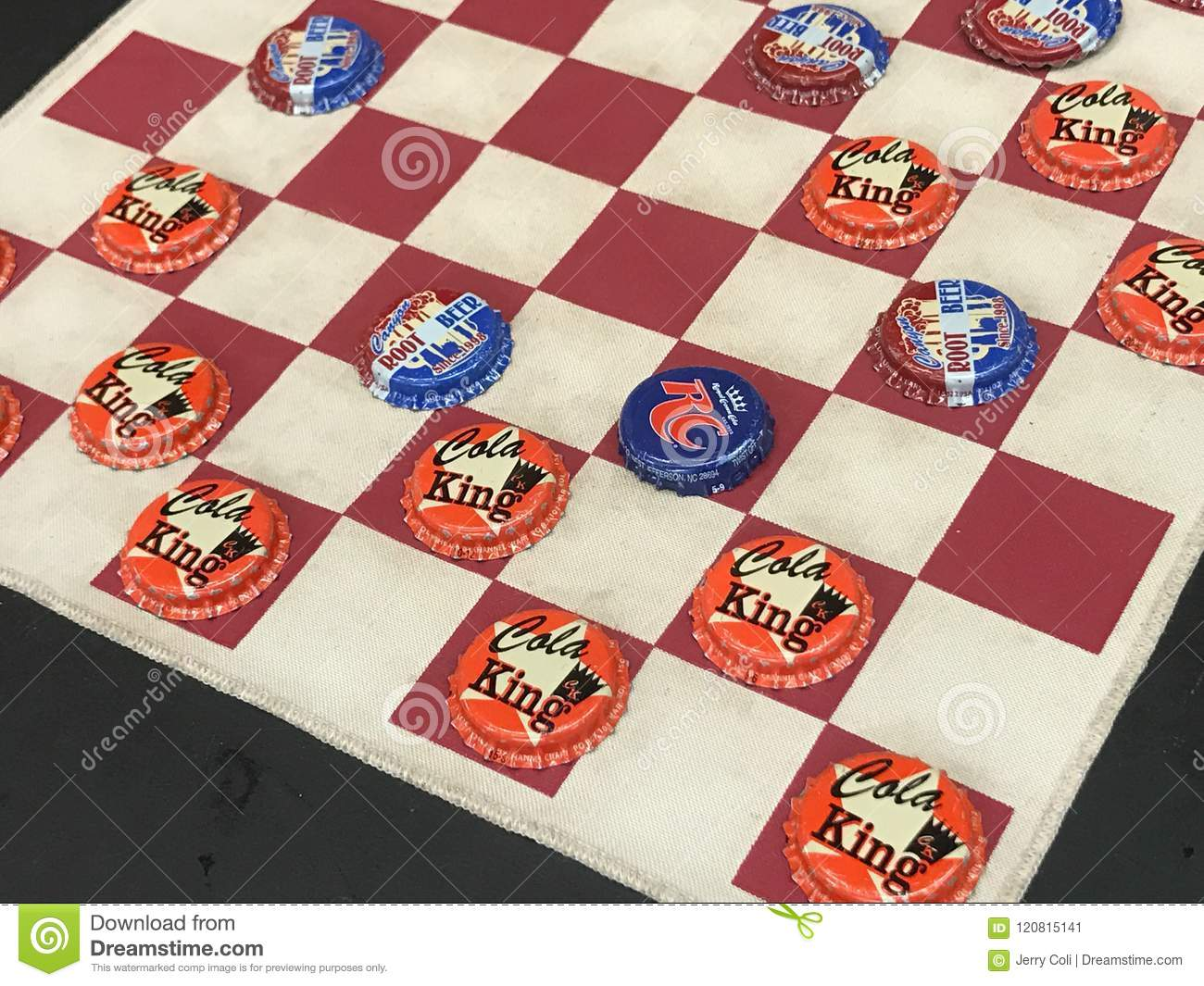 Bottle Cap Checkers Game