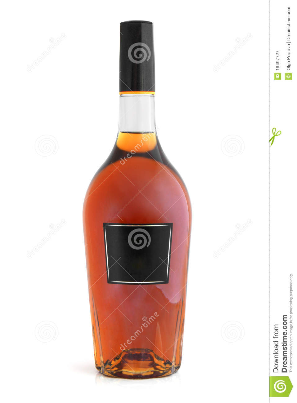 Bottle of cognac brandy royalty free stock photography image