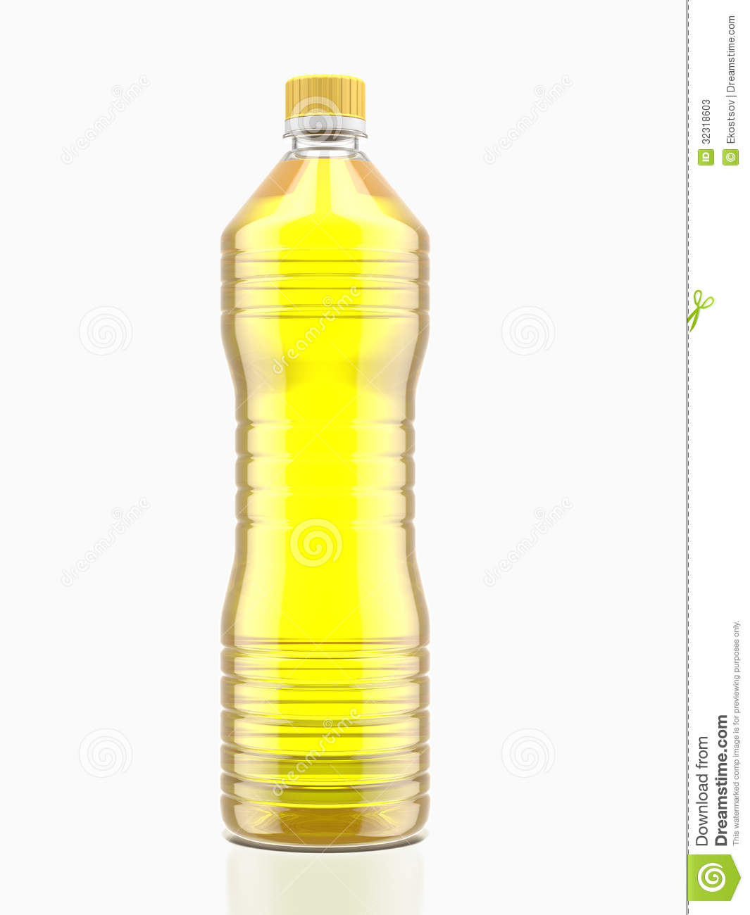 Bottle of cooking oil stock illustration. Image of object ...