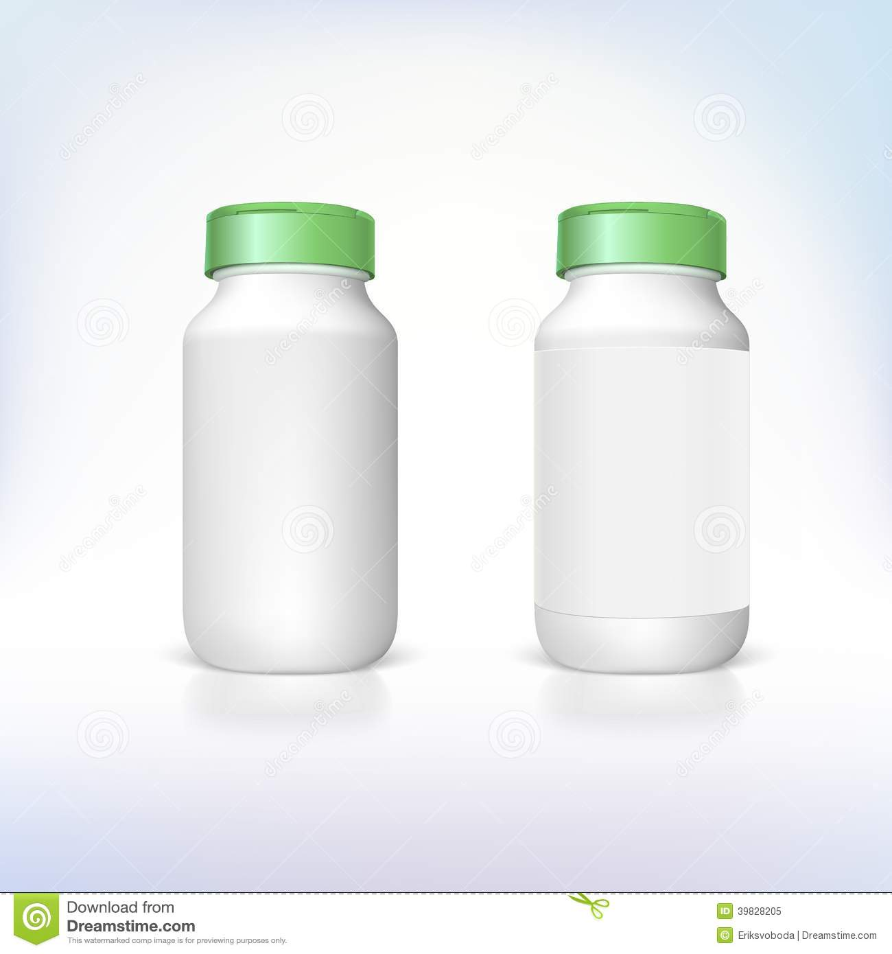 Bottle For Dietary Supplements And Medicines. Stock Vector ...