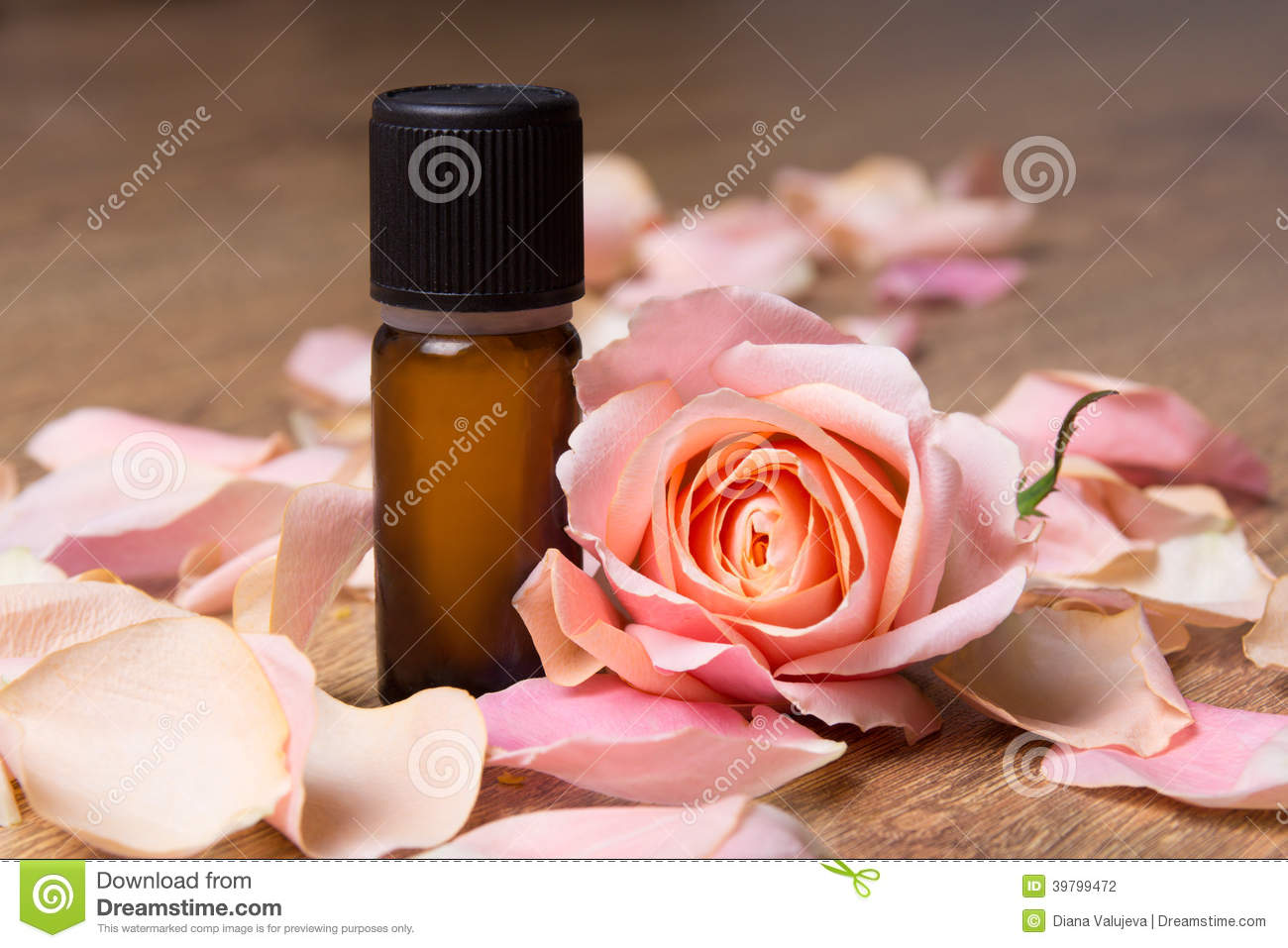 Bottle with essential oil and rose petals stock photo image 39799472 - Rose essential oil business ...