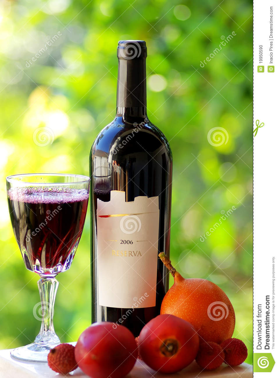 Bottle And Glass Of Red Wine Stock Photo Image 19950590