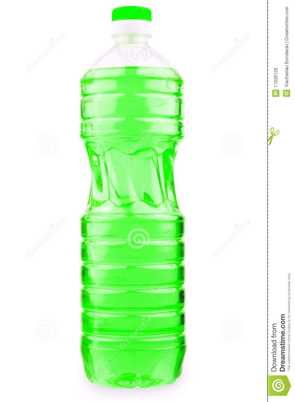 Bottle With Green Liquid Stock Photo Image Of Transparent
