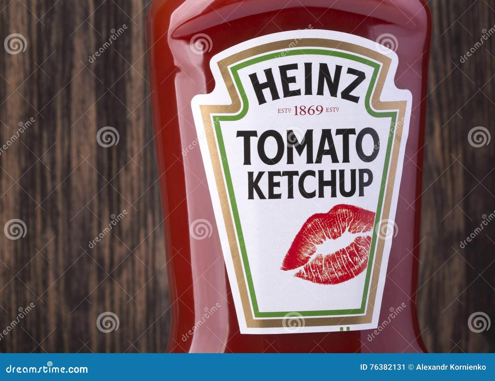 Bottle of Heinz Tomato Ketchup
