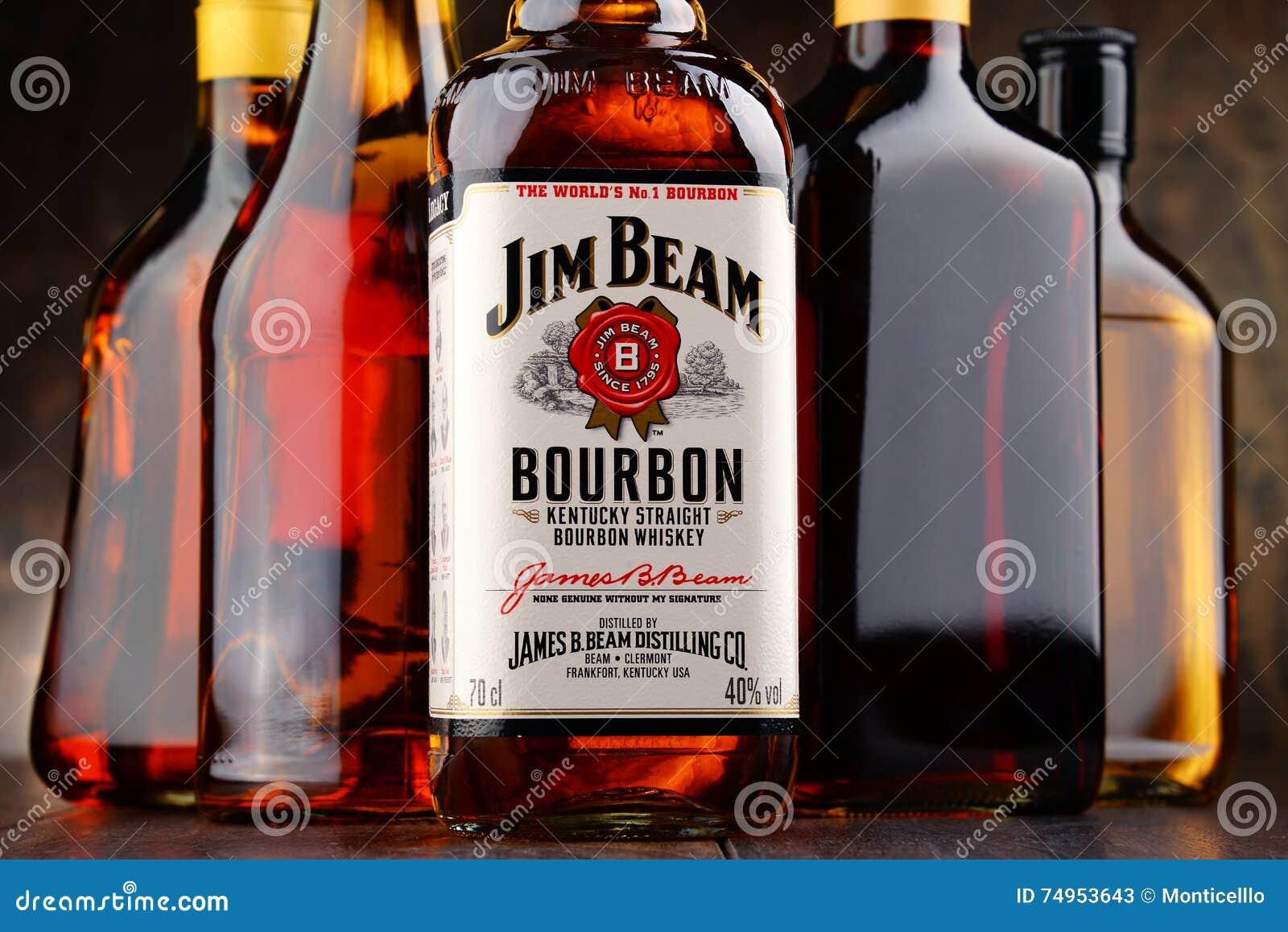 bottle of jim beam bourbon editorial stock photo image of beam