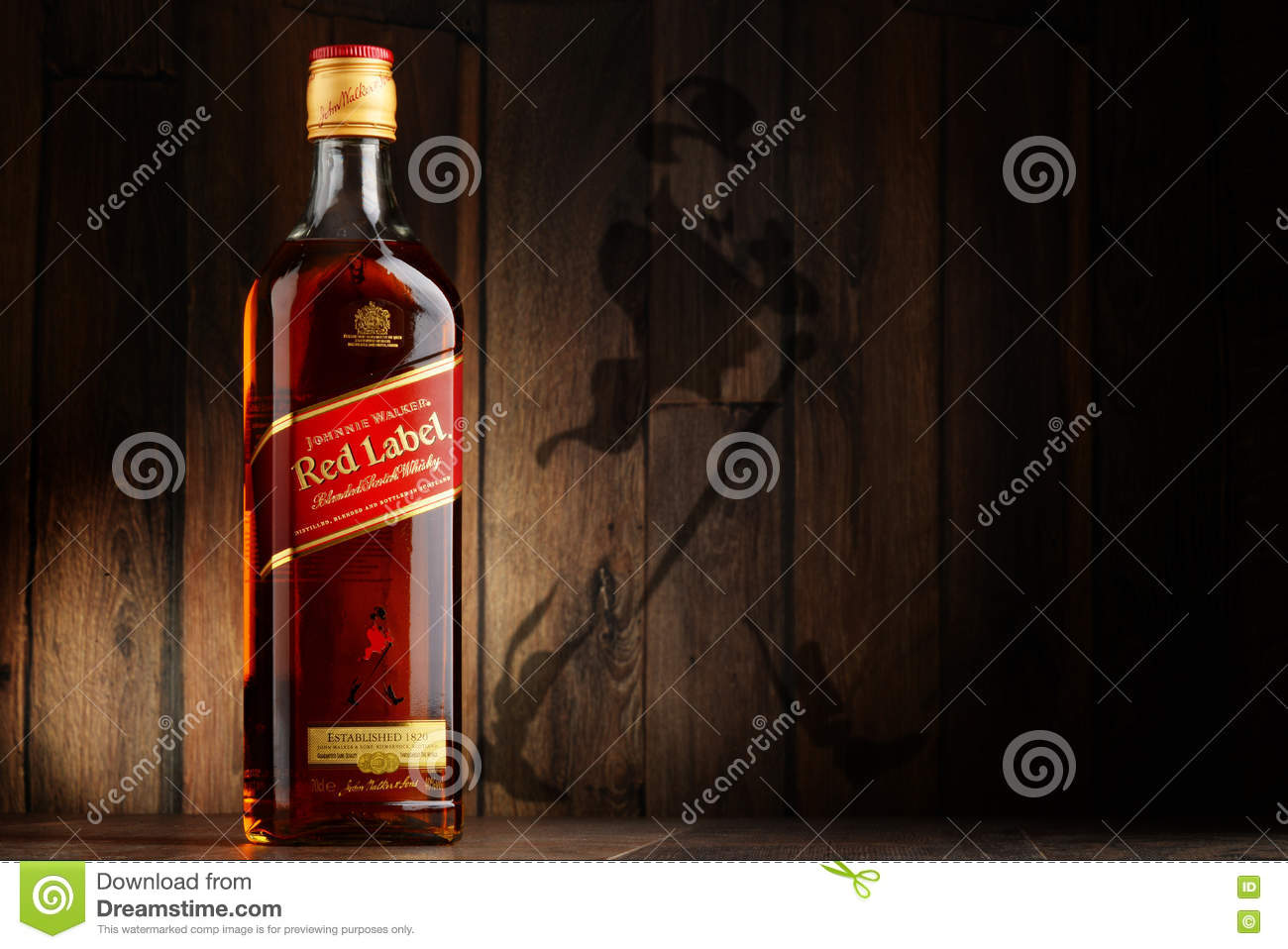 Bottle Of Johnnie Walker Scotch Whisky Editorial Stock Photo Image