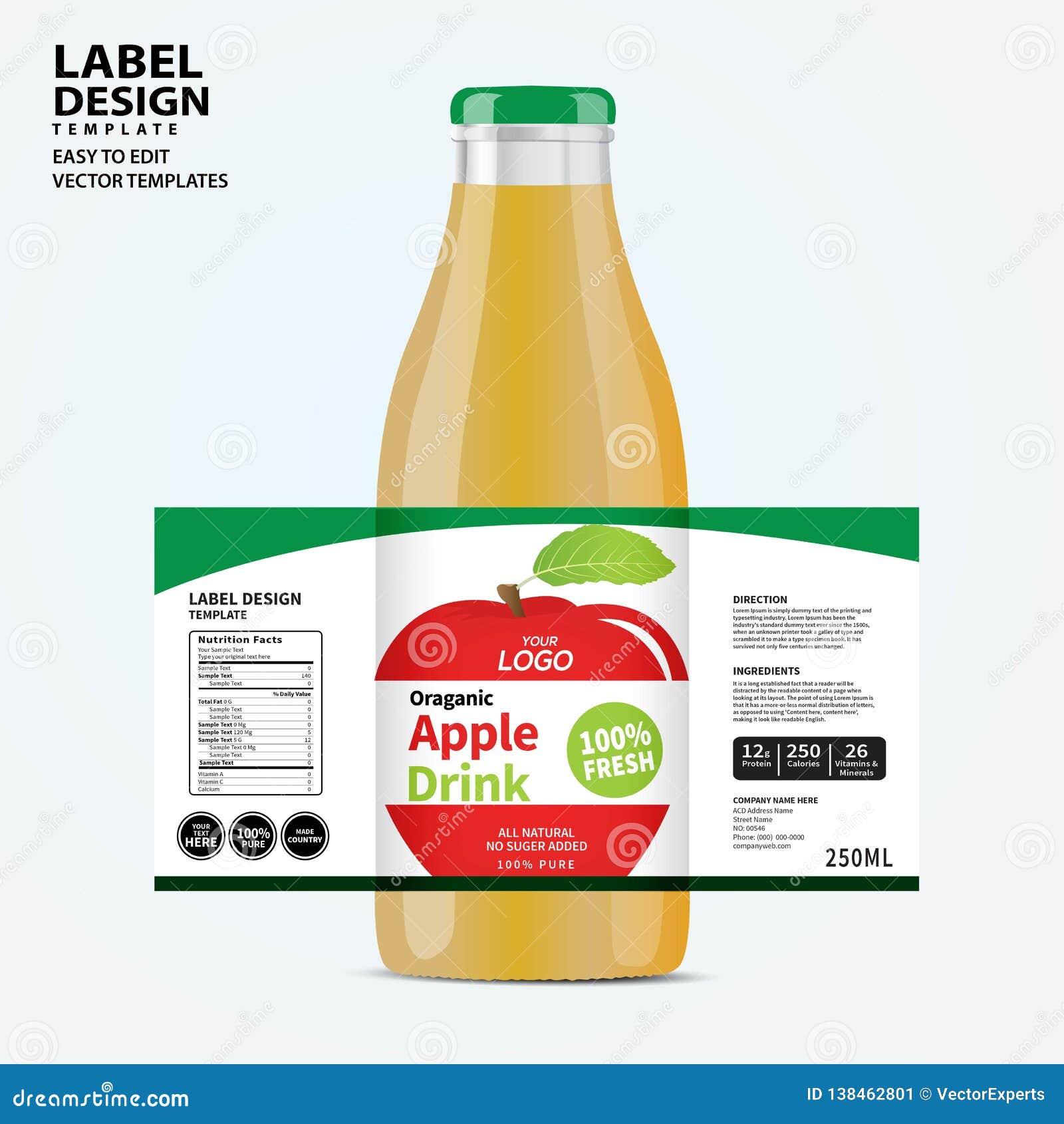 Bottle Label, Package Template Design, Label Design, Mock