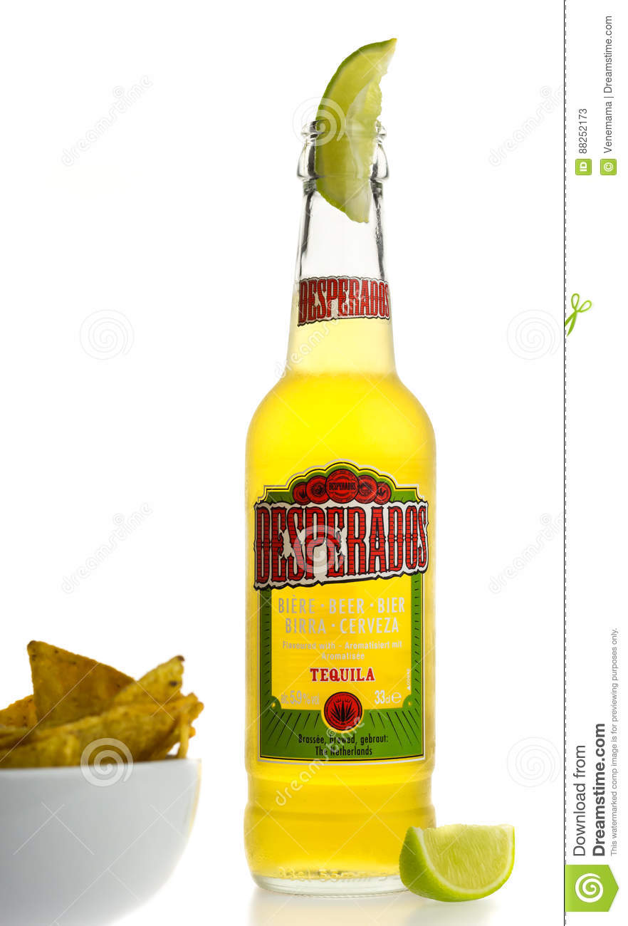 Bottle Of Mexican Desperados Tequila Beer With Lime Wedge And Na Editorial Stock Photo Image Of Bottle Corn 88252173