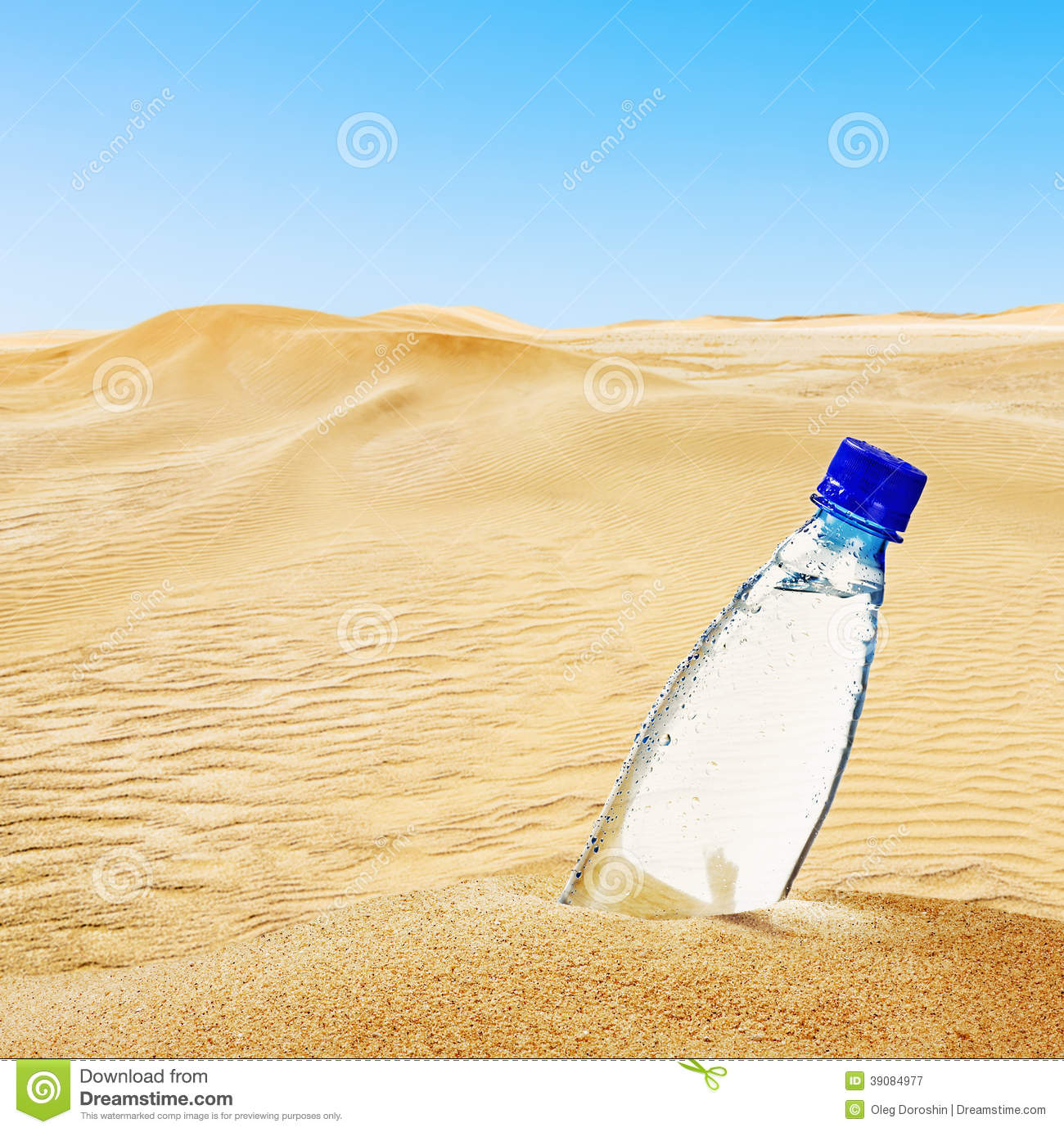 Bottle Of Mineral Water On The Sand Stock Image - Image ...
