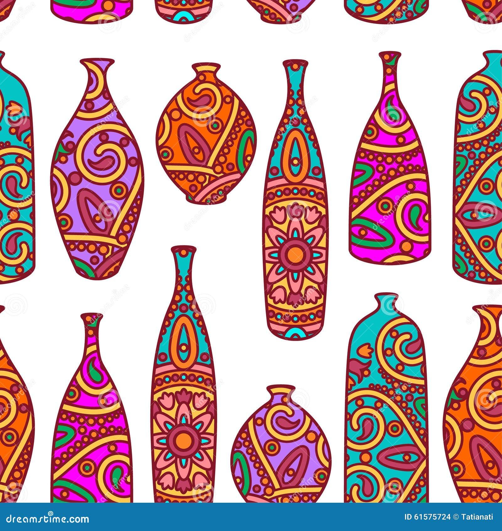 Ornamental bottles - Bottle Pattern