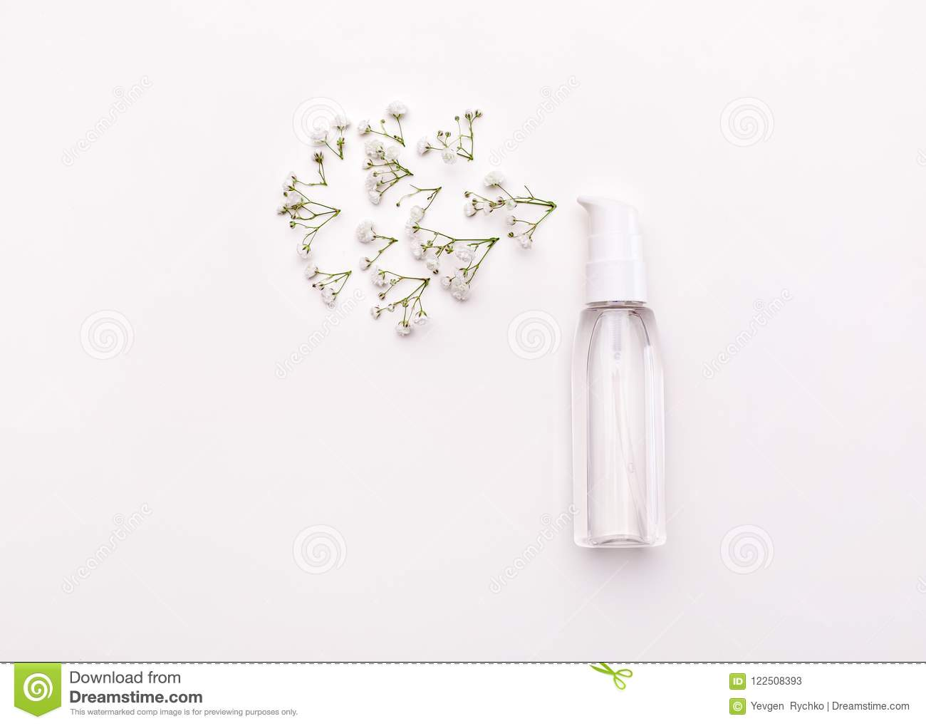 Perfume And Flower Petals Top View Stock Image Image Of Flower