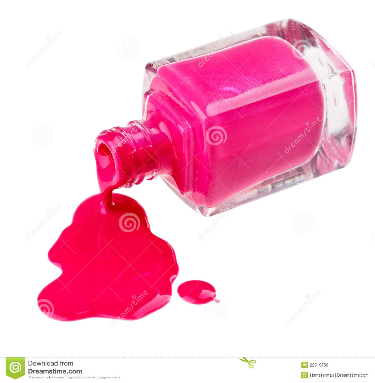 Bottle Of Pink Nail Polish With Drop Samples Stock Photo - Image of ...
