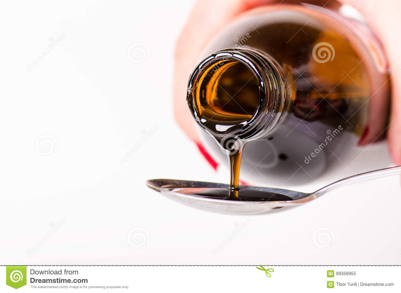 Download Bottle Pouring A Liquid On A Spoon. Isolated On A White Background. Pharmacy And Healthy Background. Medicine. Cough And Cold Drug Stock Image - Image of isolated, diet: 69356955
