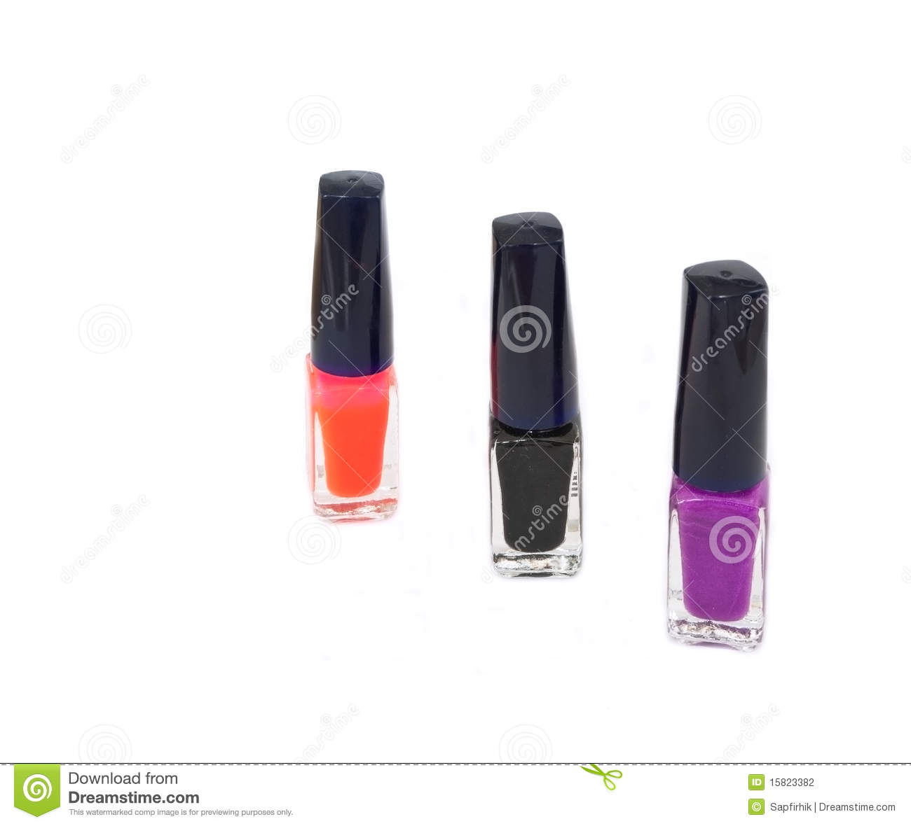 Bottle Of Red, Black, Purple Nail Polish Stock Photography ...