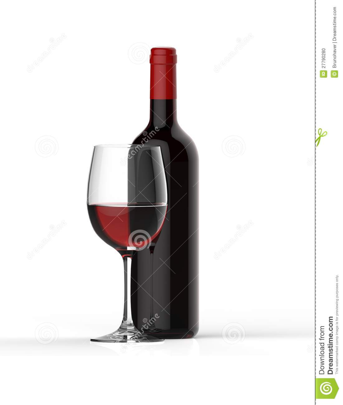 Bottle of red wine with glass stock photo image 27790280 for Wine bottle glass