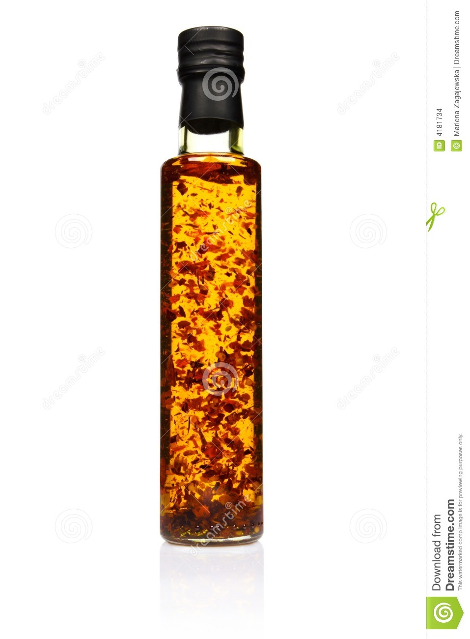 Bottle Of Spicy Olive Oil. Stock Images - Image: 4181734