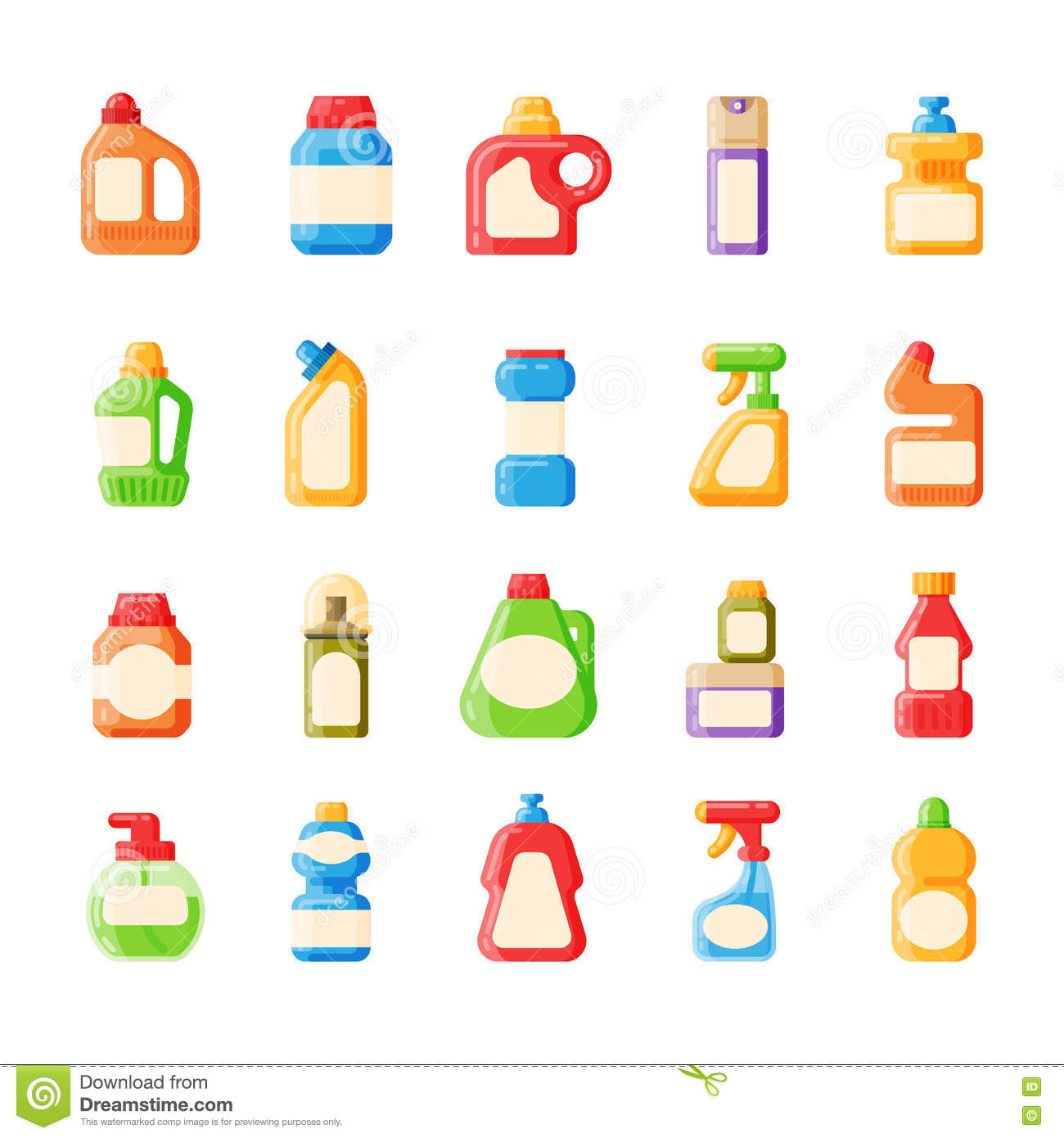 bottle template blank package container collection flat vector rh dreamstime com Focet Vector Animated Bathroom