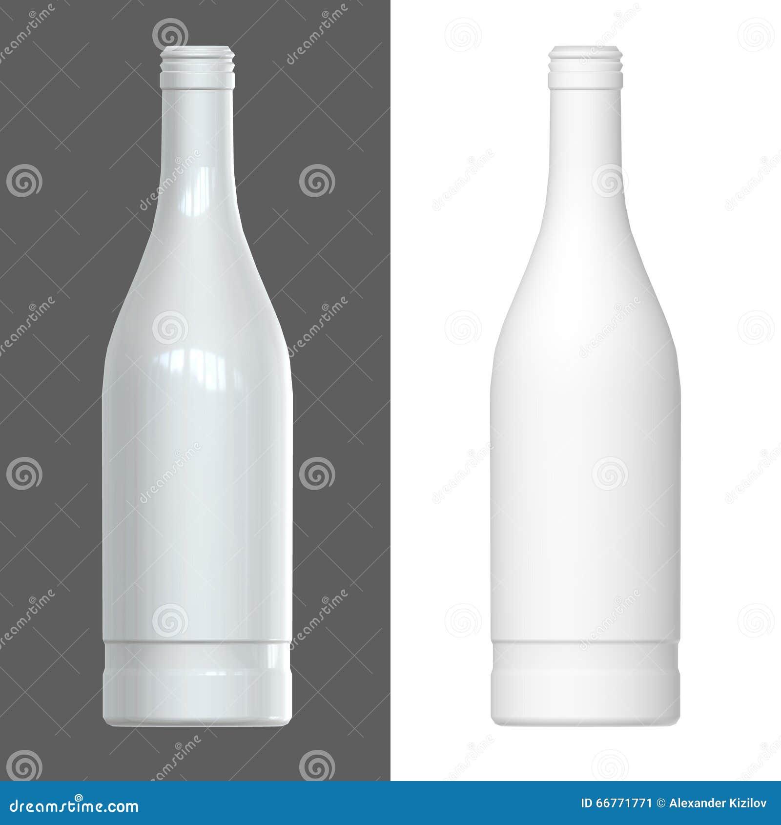 Bottle Template. 3D Render. Stock Illustration - Illustration of ...