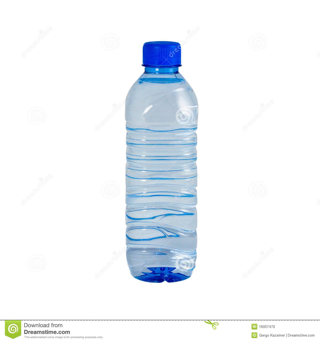 Photo of an isolated plastic bottle of still water.