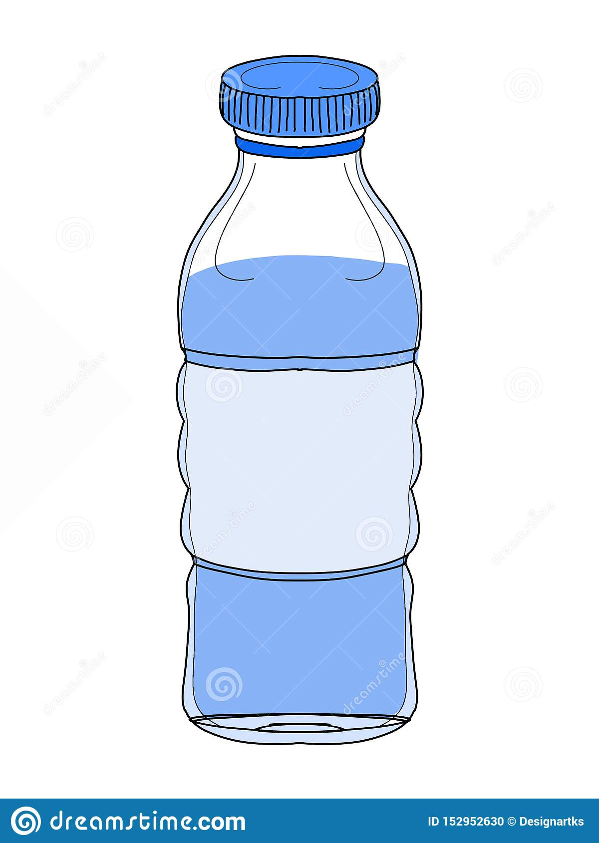 Bottle Water Cartoon Illustration Drawing And Banner Stock Illustration Illustration Of Mineral Life 152952630
