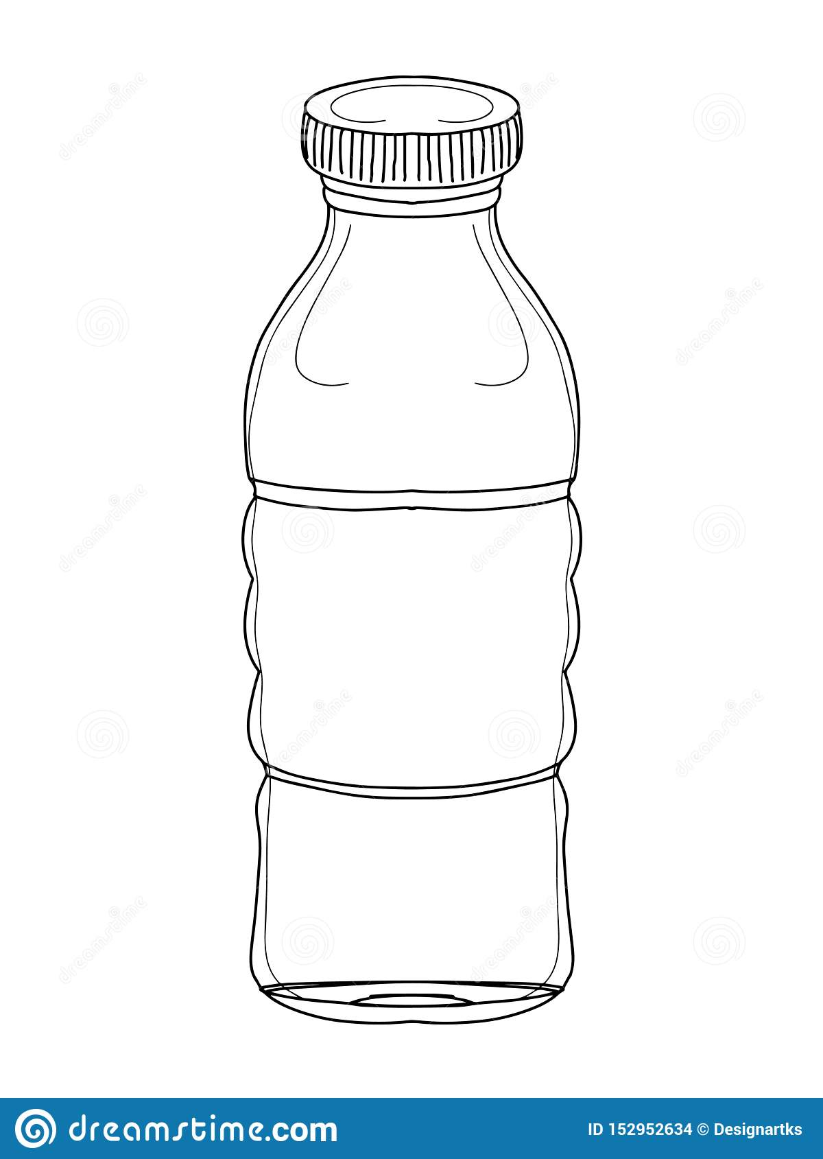 Bottle Water Cartoon Illustration Drawing And Banner Stock Illustration Illustration Of Drawing Healthy 152952634