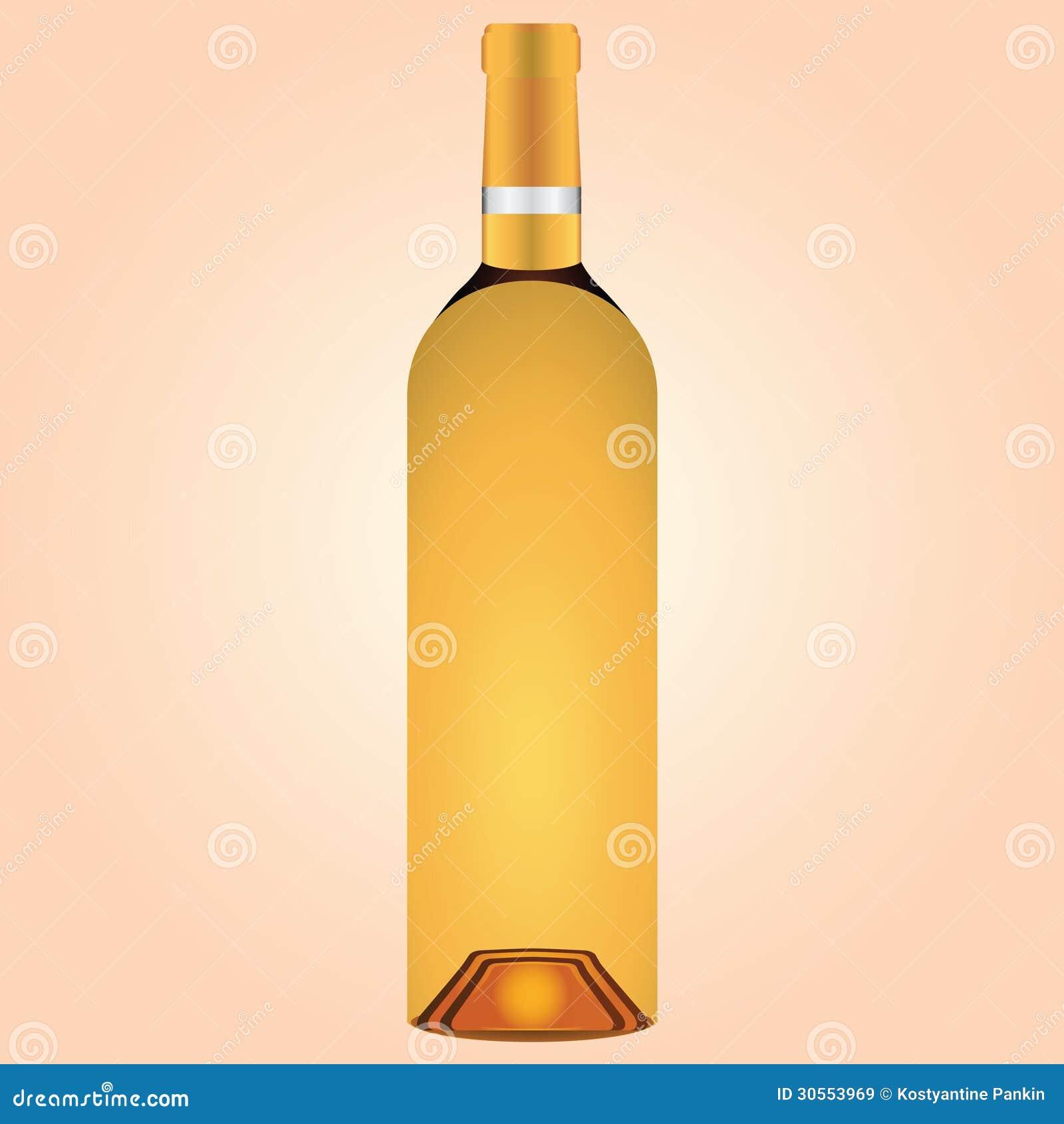 Bottle Of White Wine Royalty Free Stock Images - Image ...