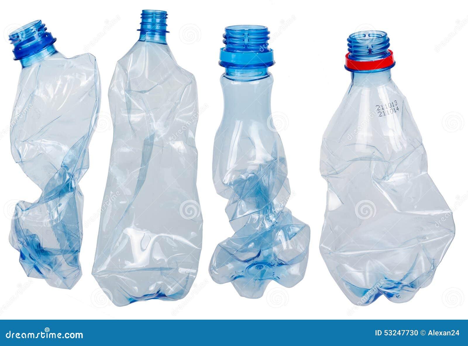 Bottles använd plast-