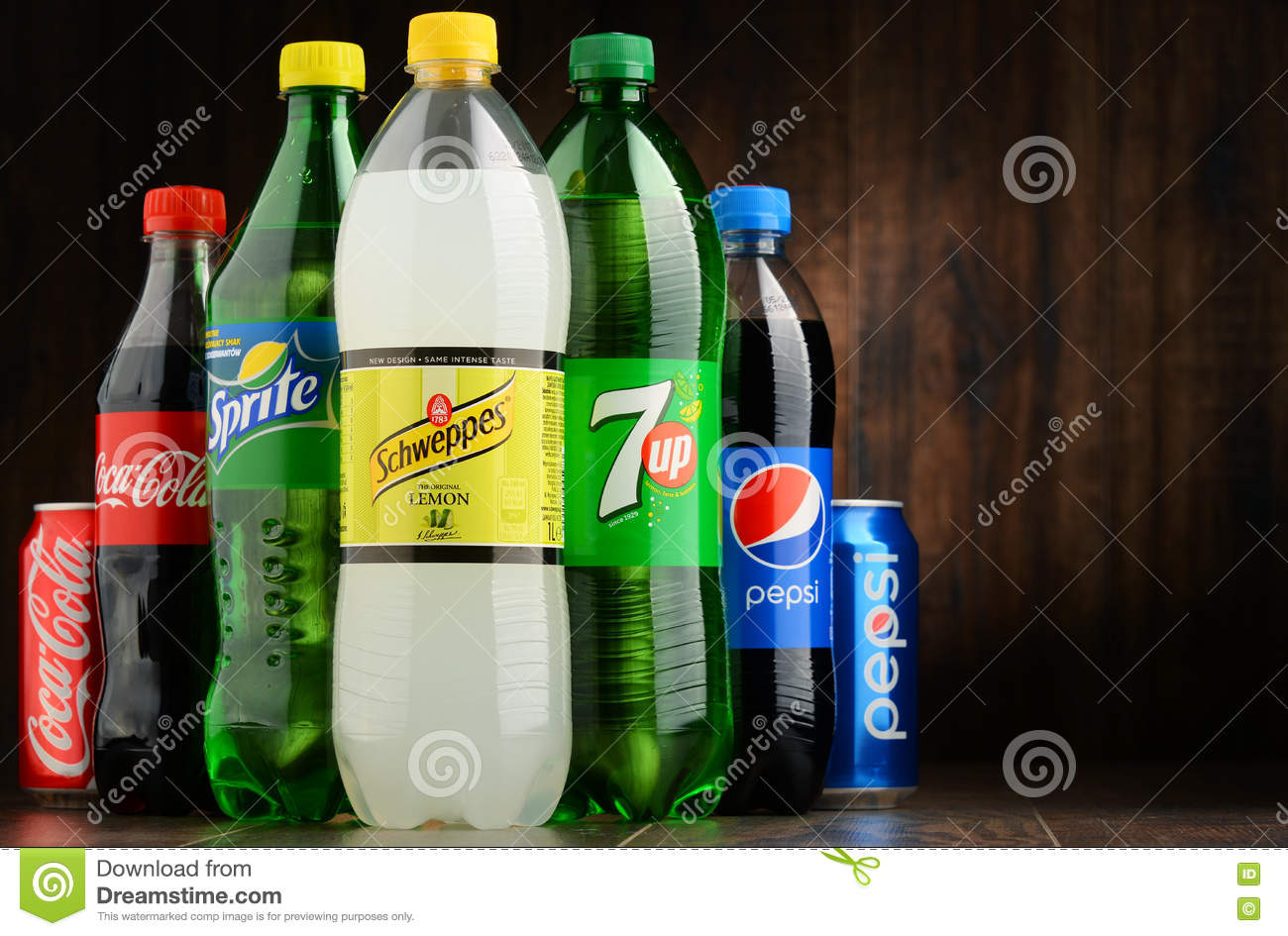 Bottles Of Assorted Global Soft Drinks Editorial Photography - Image