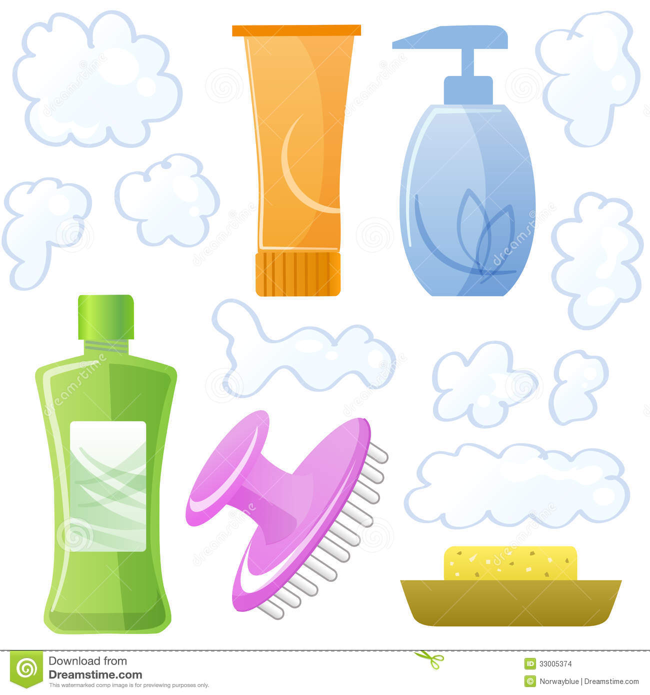 Bottles Of Body And Hair Care Beauty Products
