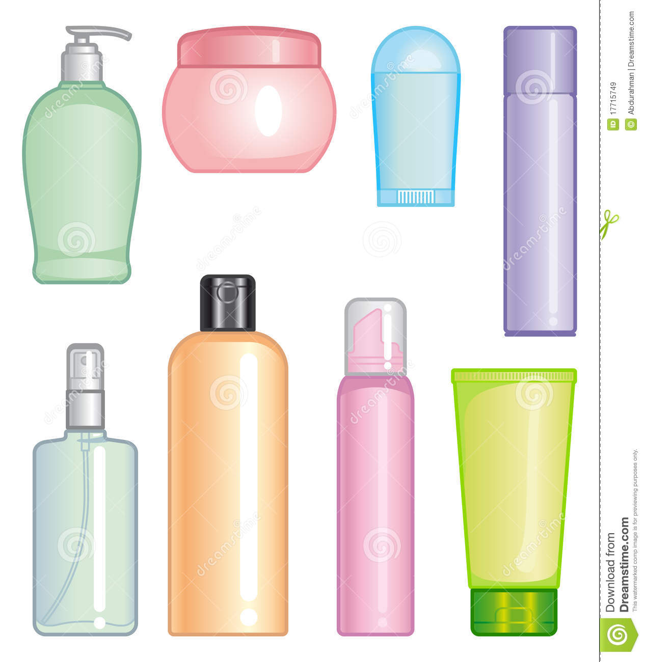 Bottles Of Cosmetic Products Royalty Free Stock Images - Image ...