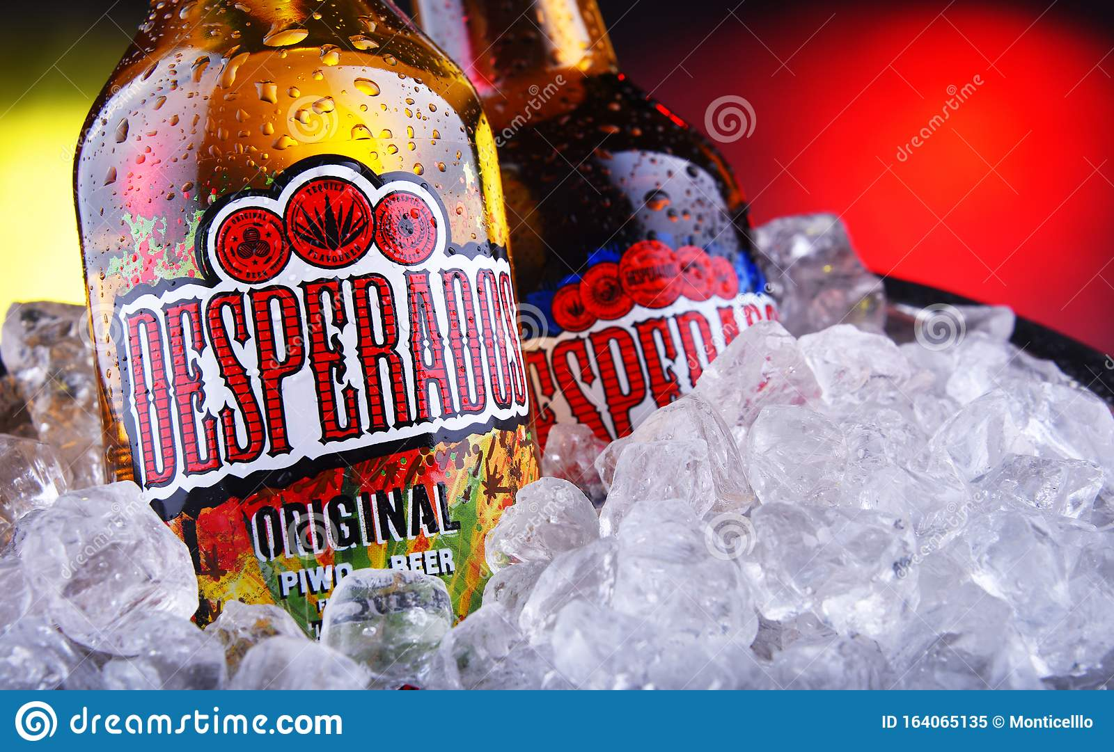 Bottles Of Desperados Beer In Bucket With Crushed Ice Editorial Image Image Of Alcohol Hrvatska 164065135