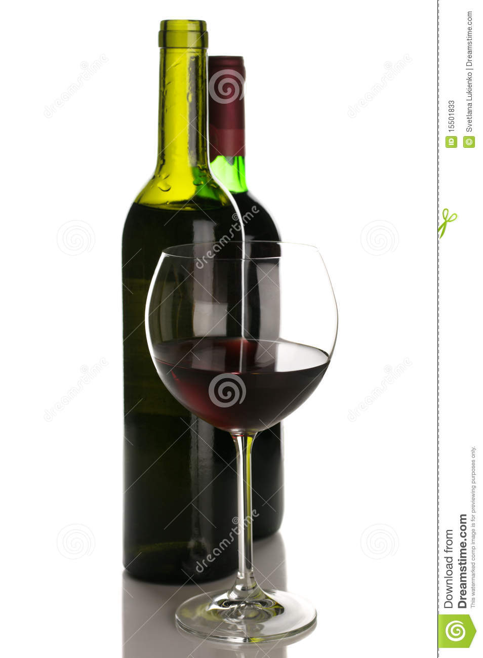 Bottles and glass of red wine stock photos image 15501833 for Red glass wine bottles suppliers