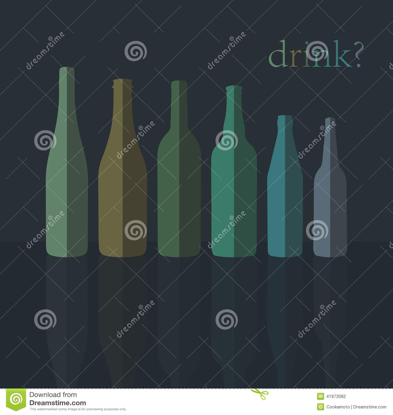 Bottles Icons. Flat Design. vector