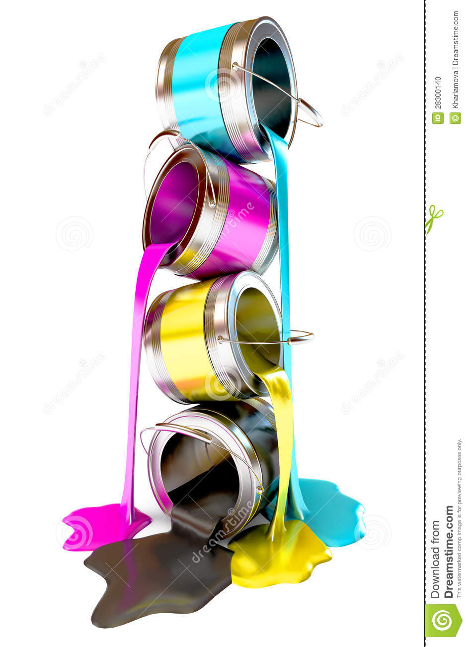 Bottles Of Ink In Cmyk Colors Stock Photo Image 28300140