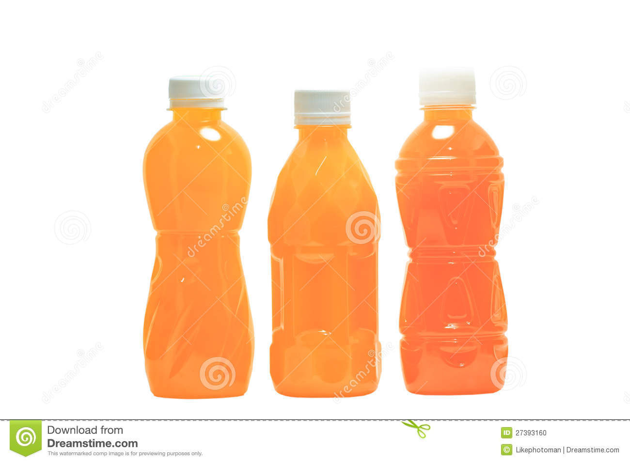 Bottles Of Juice Stock Photo - Image: 27393160