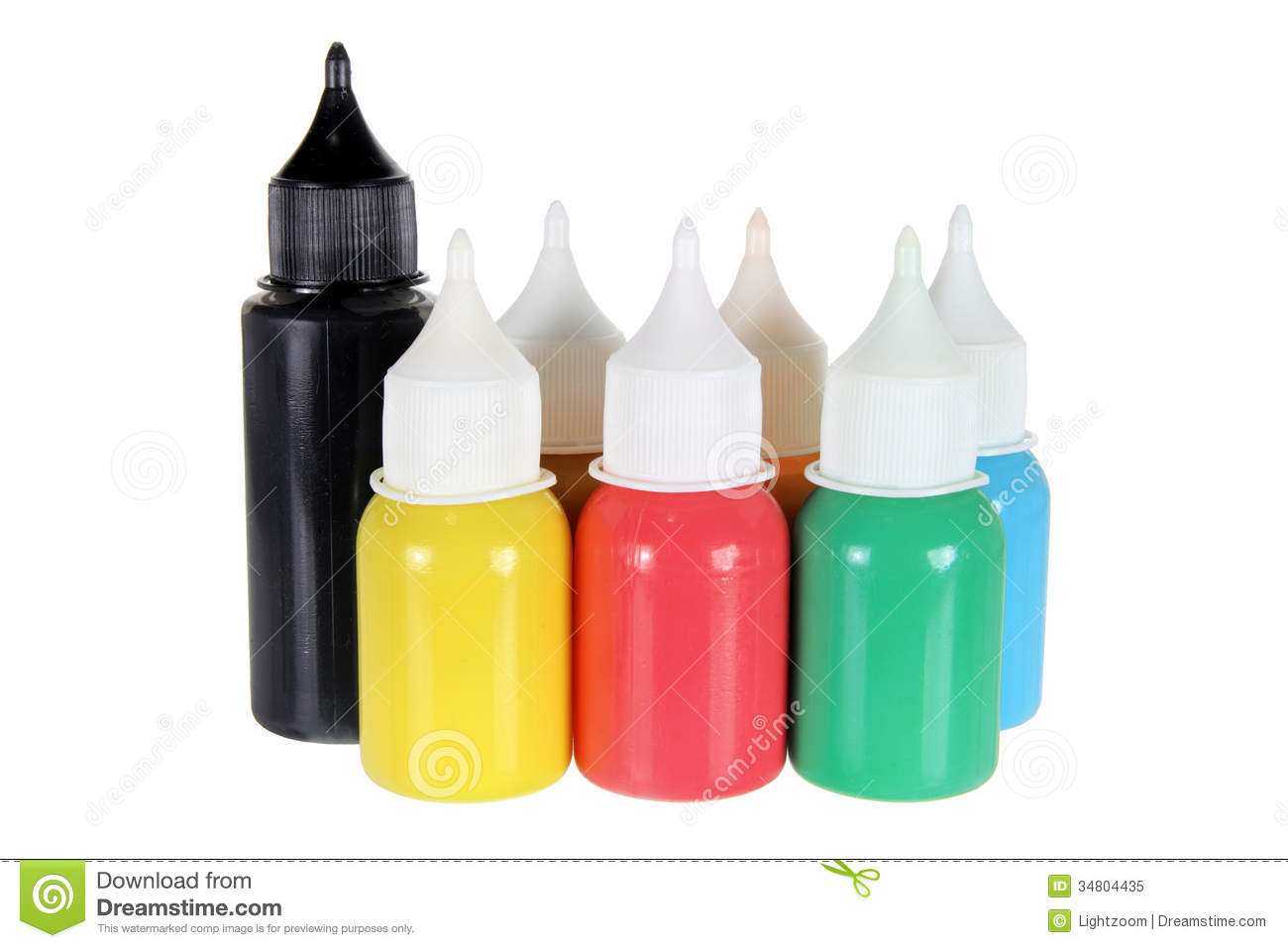 Bottles Of Paint Royalty Free Stock Photo - Image: 34804435 Nail Polish Bottles Clipart