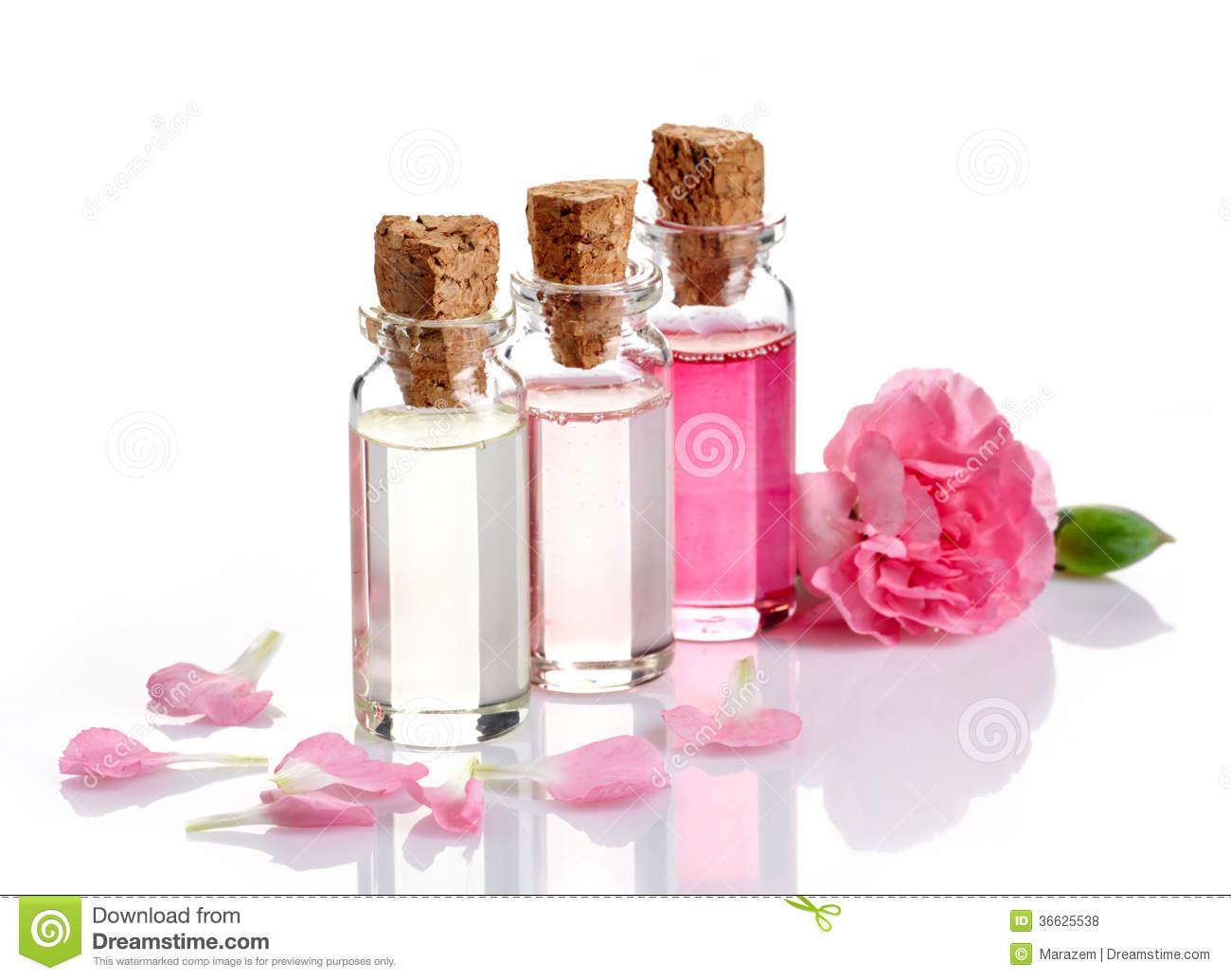 Bottles of spa essential oils royalty free stock photos for Adazl salon and beauty supply