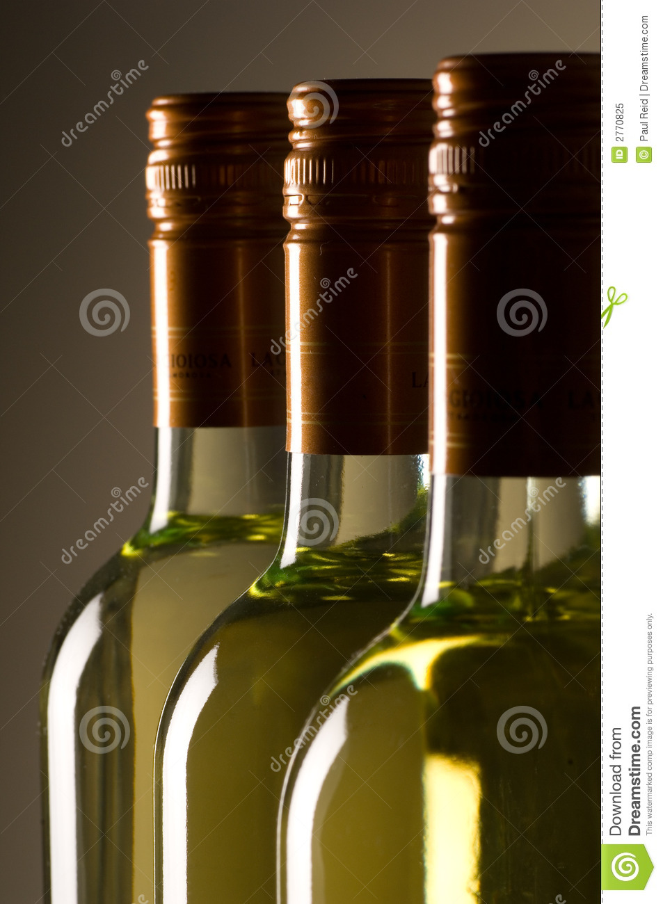 Bottles of white wine