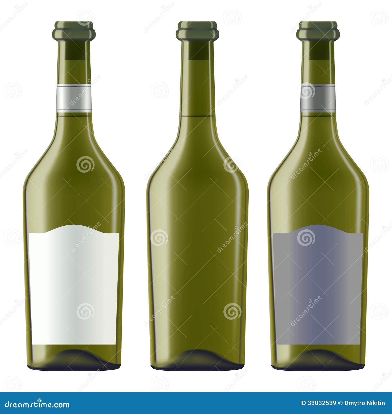 Bottles Of White Wine Royalty Free Stock Images - Image ...