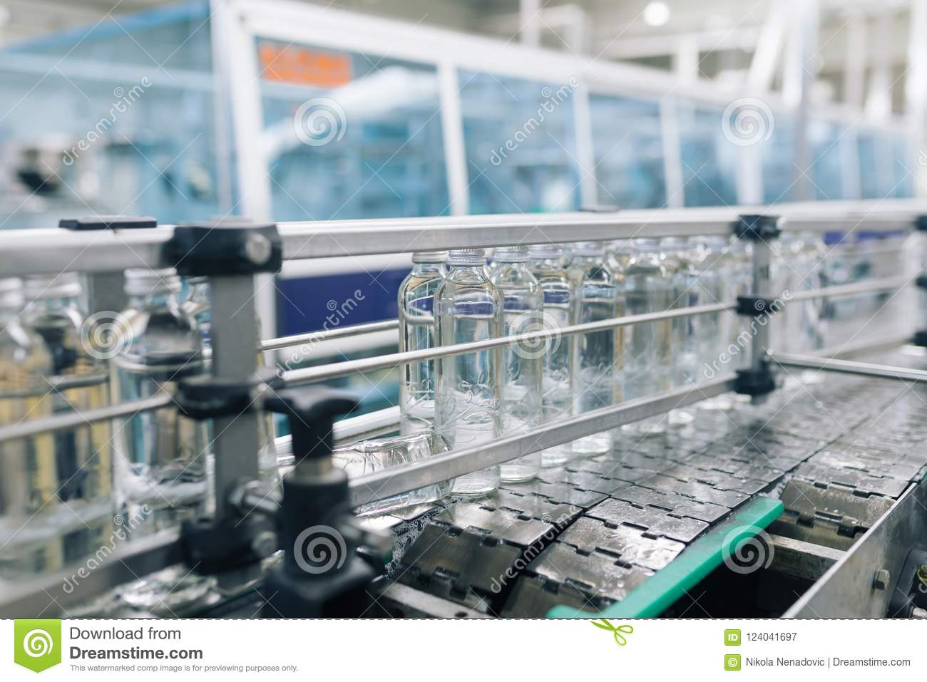 Water bottling factory stock image  Image of industrial
