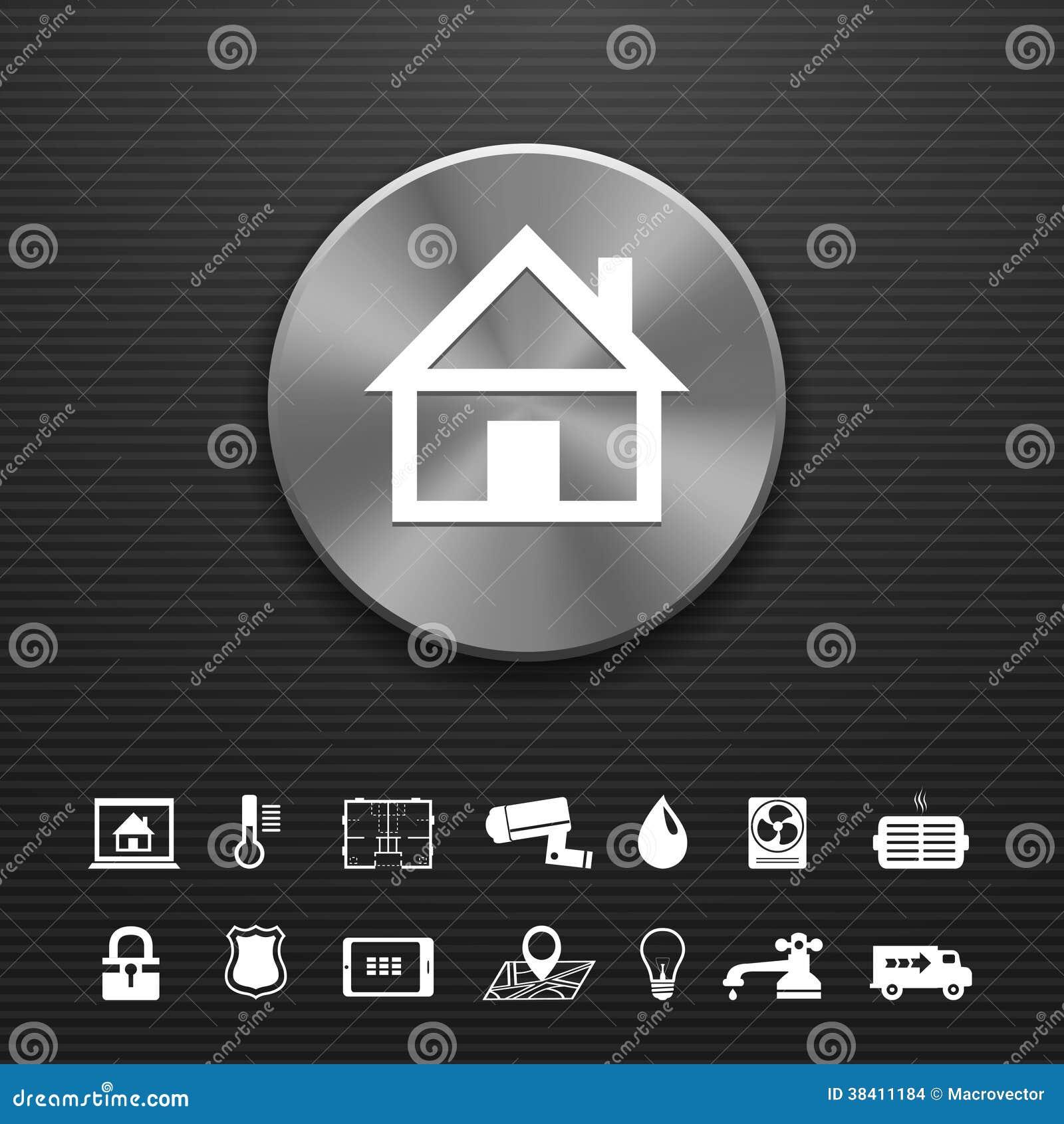Bottone astuto del metallo di tecnologia di automazione - Automazione casa ...