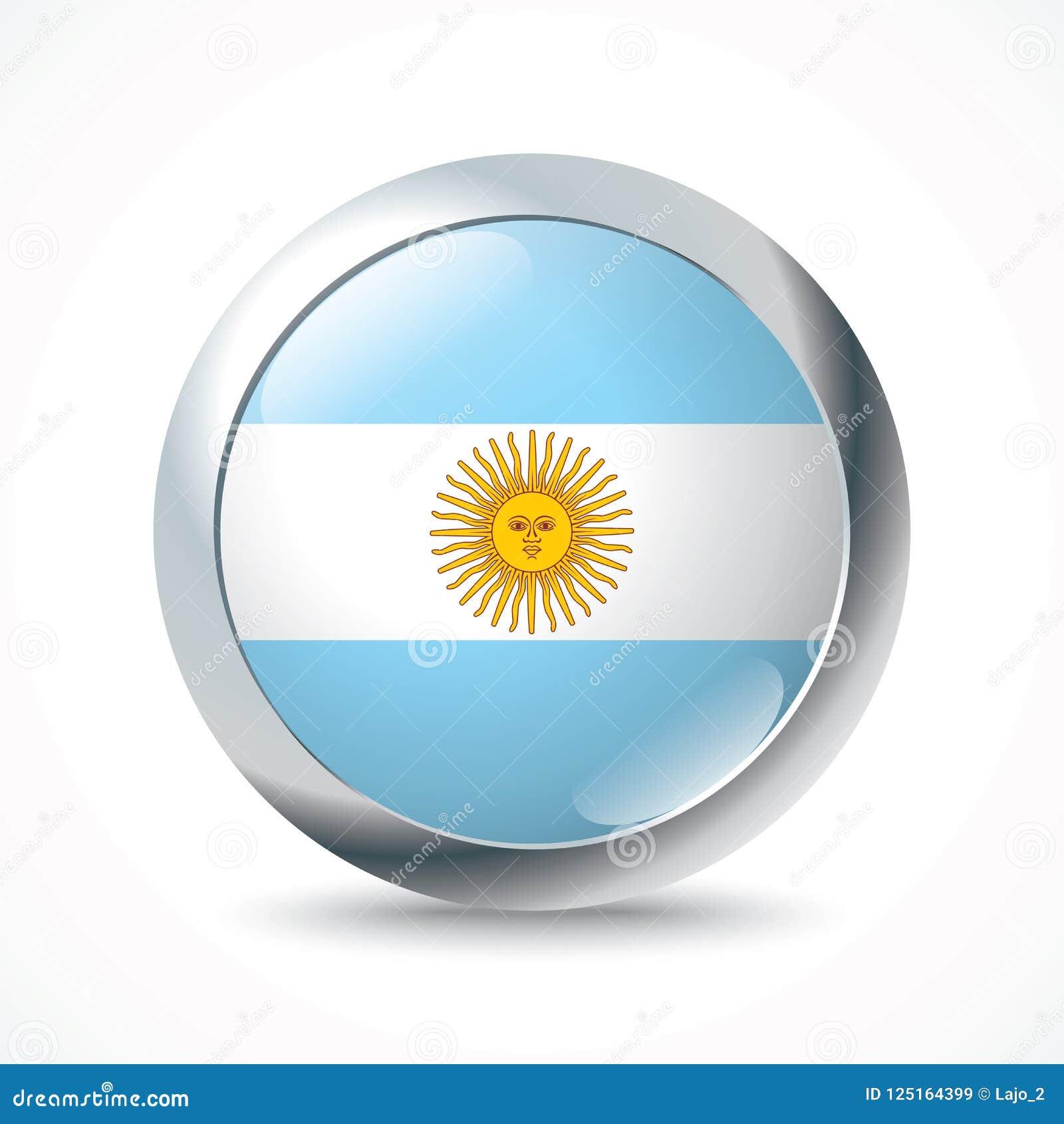 Bottone della bandiera dell Argentina