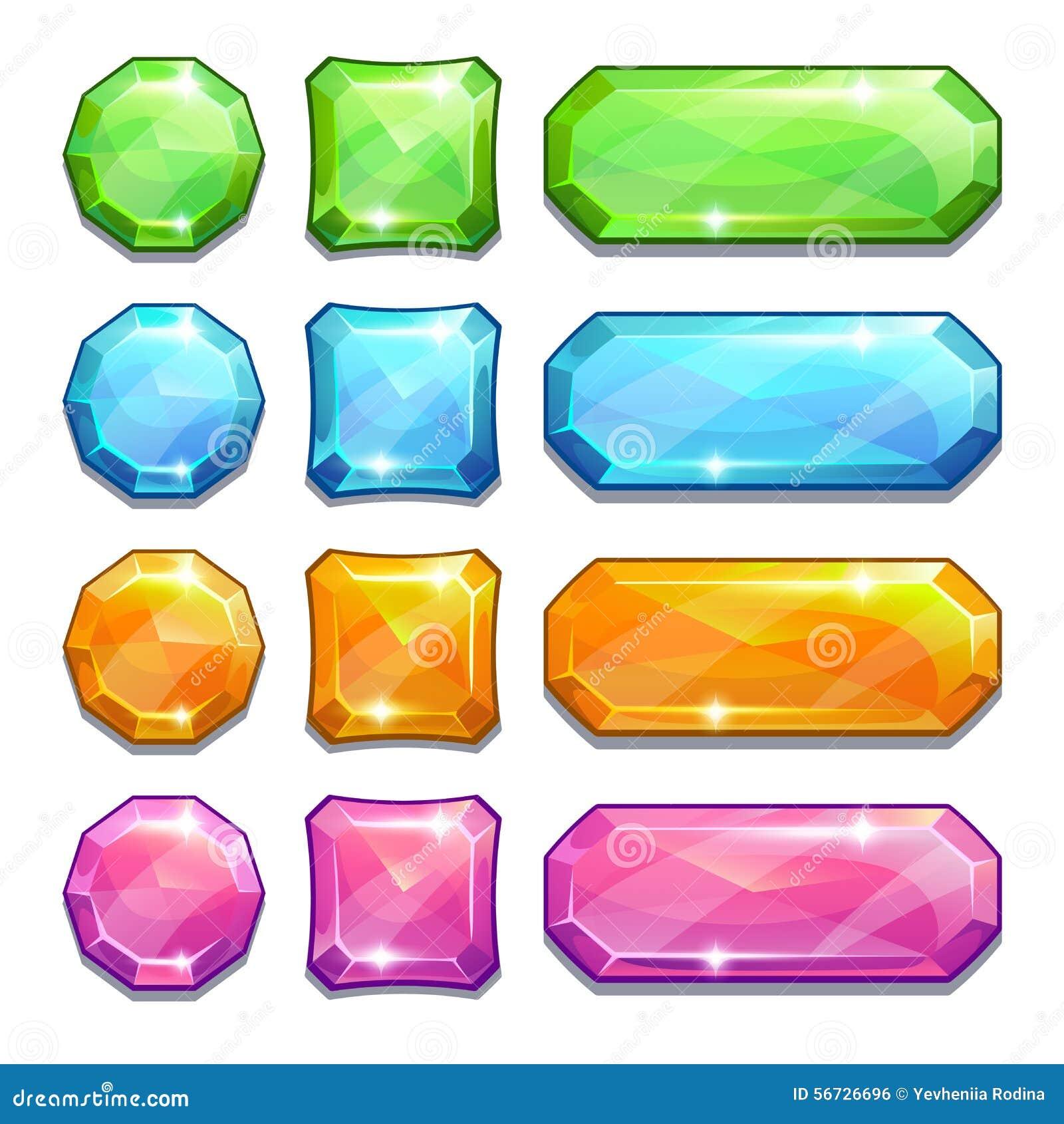Bottoni a cristallo variopinti