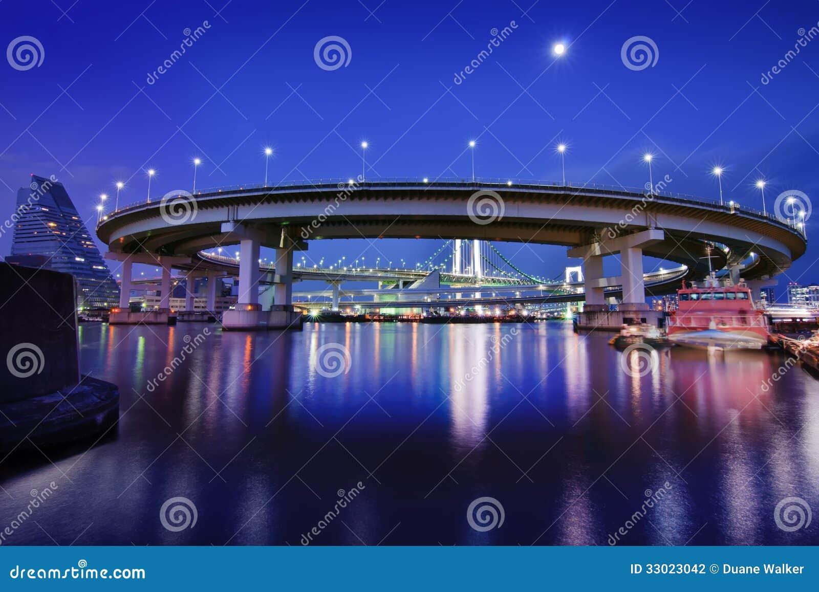 Boucle de pont en arc-en-ciel de Tokyo