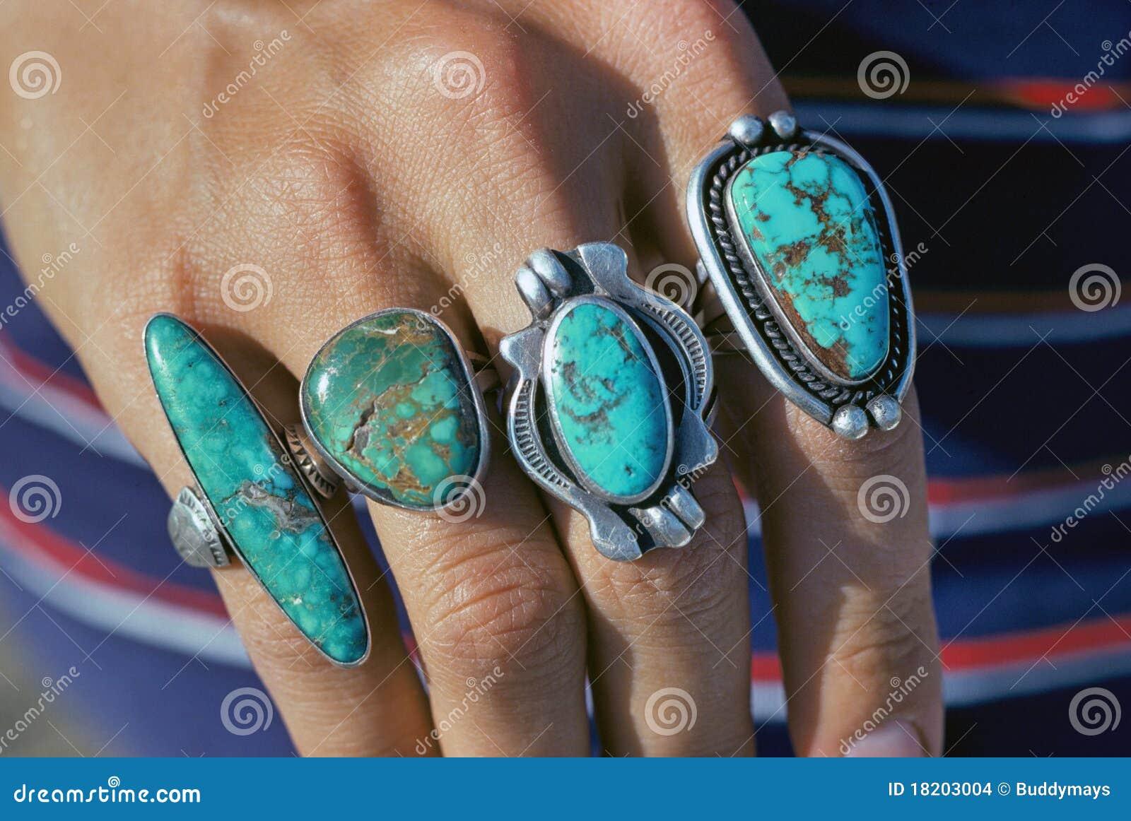 Boucles de turquoise